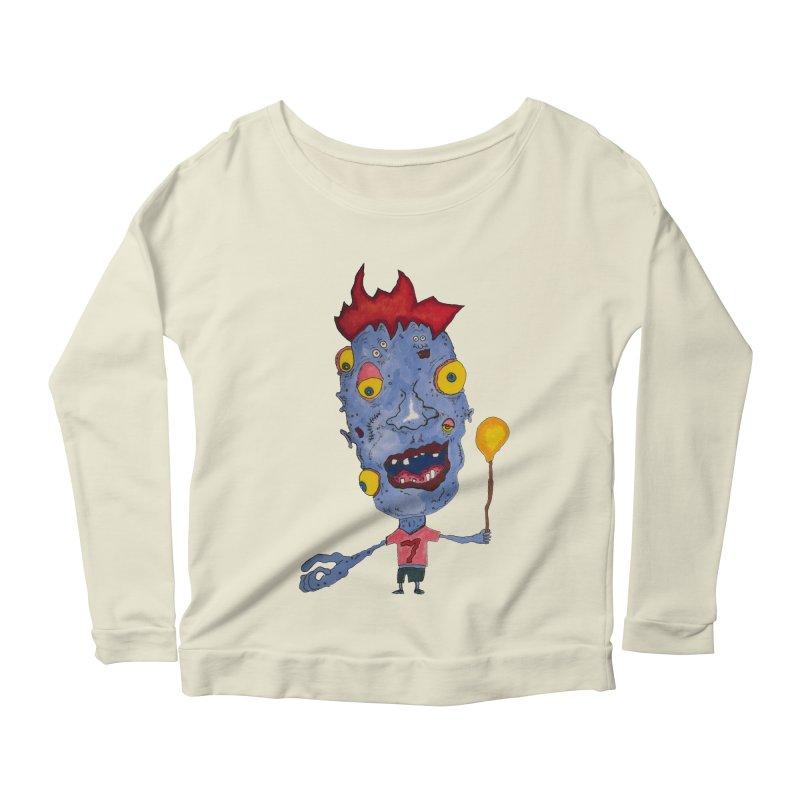 Wonder Boy! Women's Longsleeve Scoopneck  by Baston's T-Shirt Emporium!