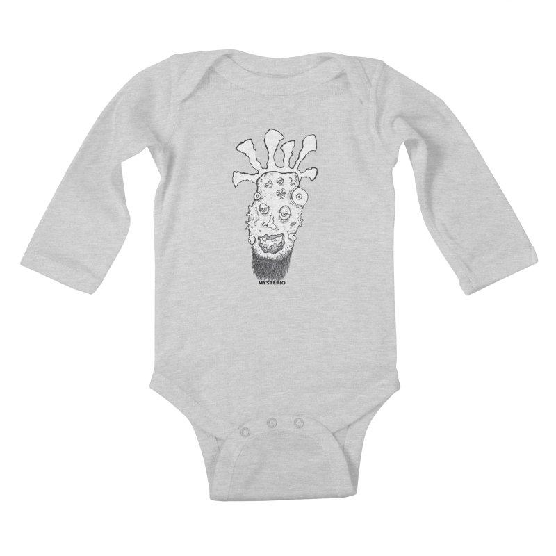 Hipster Jimi Kids Baby Longsleeve Bodysuit by Baston's T-Shirt Emporium!