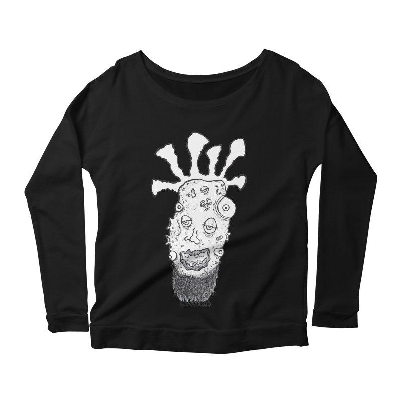 Hipster Jimi Women's Longsleeve Scoopneck  by Baston's T-Shirt Emporium!