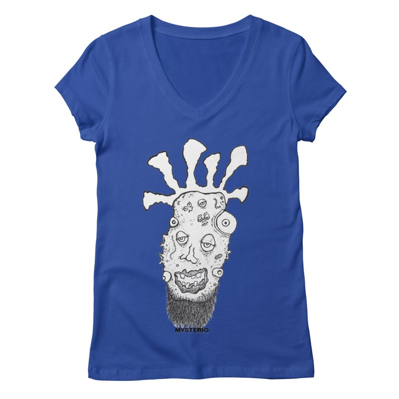 Hipster Jimi Women's V-Neck by Baston's T-Shirt Emporium!