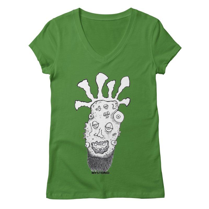 Hipster Jimi Women's Regular V-Neck by Baston's T-Shirt Emporium!