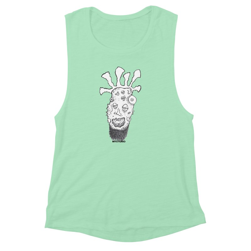 Hipster Jimi Women's Muscle Tank by Baston's T-Shirt Emporium!