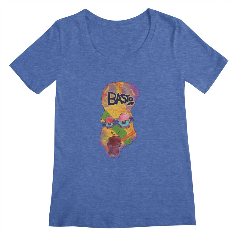 Big Head Women's Scoopneck by Baston's T-Shirt Emporium!