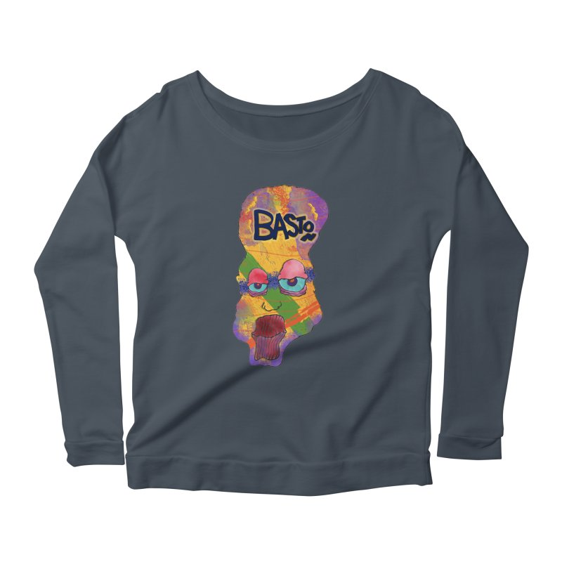 Big Head Women's Longsleeve Scoopneck  by Baston's T-Shirt Emporium!