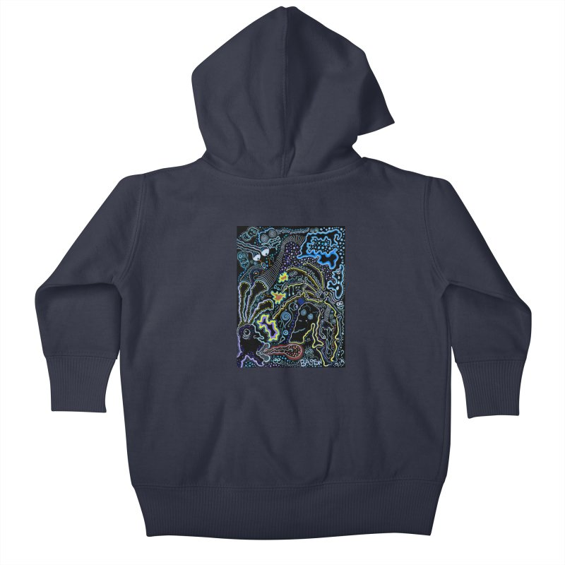 Welcome to the Jungle! Kids Baby Zip-Up Hoody by Baston's T-Shirt Emporium!