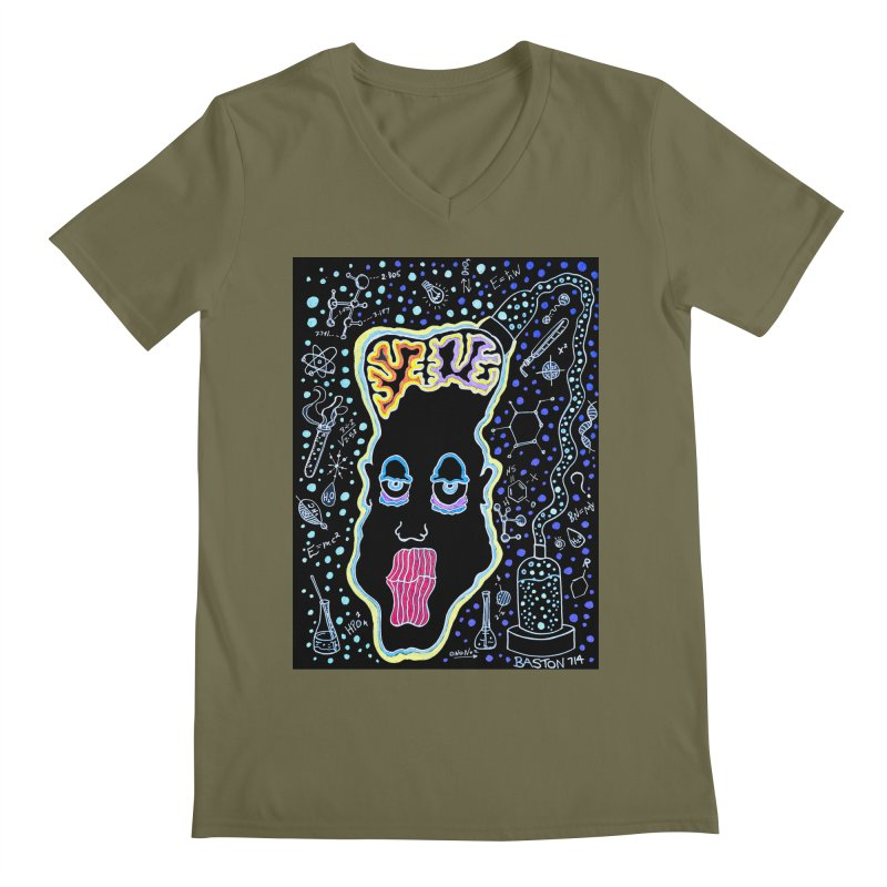 Plugged In Men's V-Neck by Baston's T-Shirt Emporium!