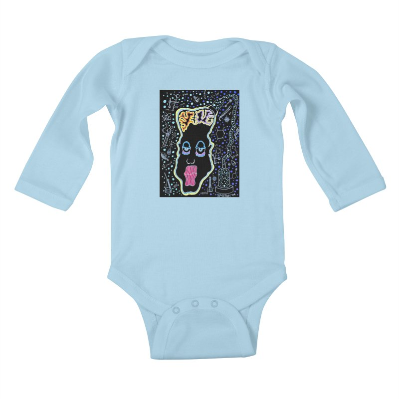 Plugged In Kids Baby Longsleeve Bodysuit by Baston's T-Shirt Emporium!