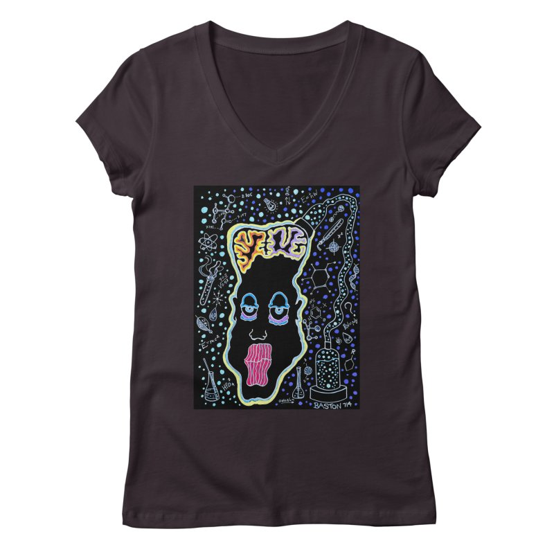 Plugged In Women's Regular V-Neck by Baston's T-Shirt Emporium!