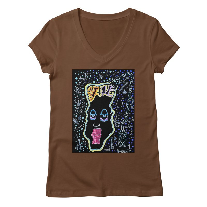 Plugged In Women's V-Neck by Baston's T-Shirt Emporium!