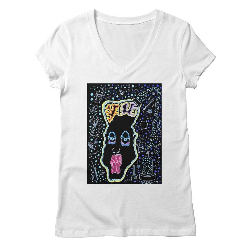 Plugged In Women's Regular V-Neck by Baston's T-Shirt Emporium!
