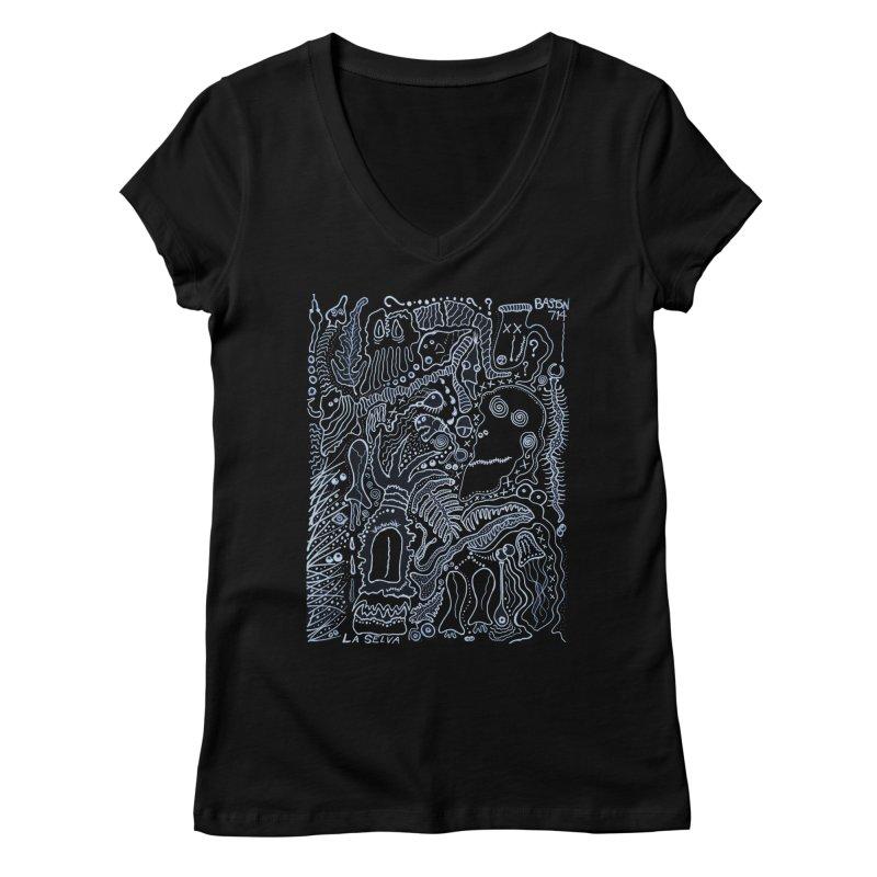Scarface Women's Regular V-Neck by Baston's T-Shirt Emporium!