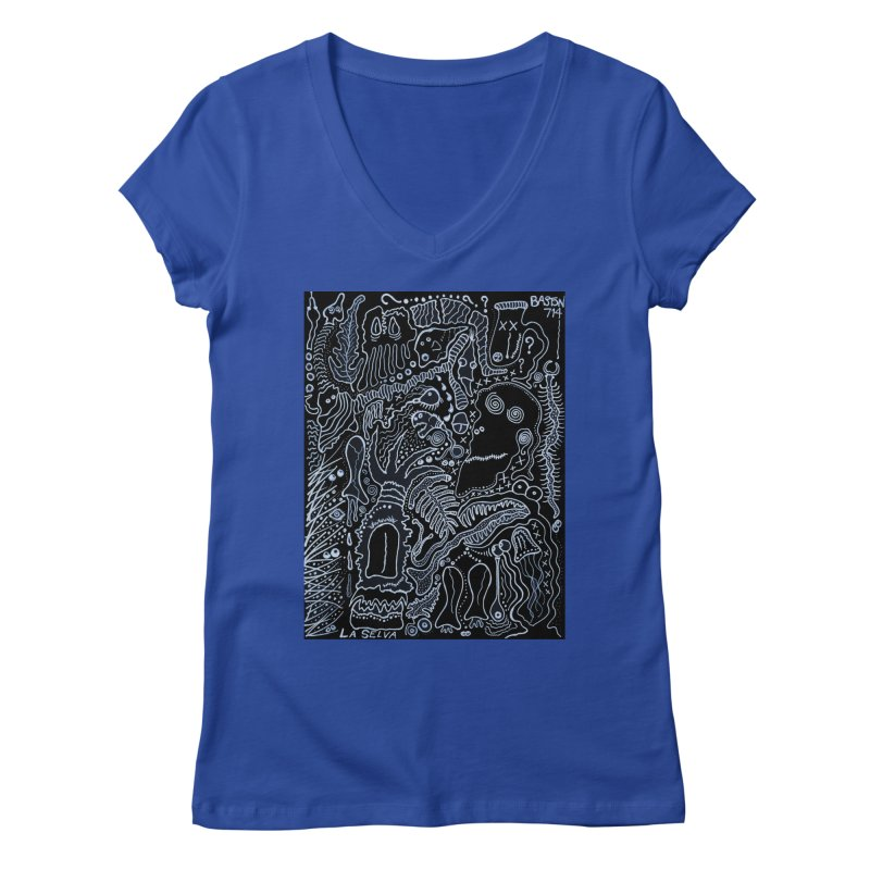Scarface Women's Regular V-Neck by Baston's T-Shirt Emporium!