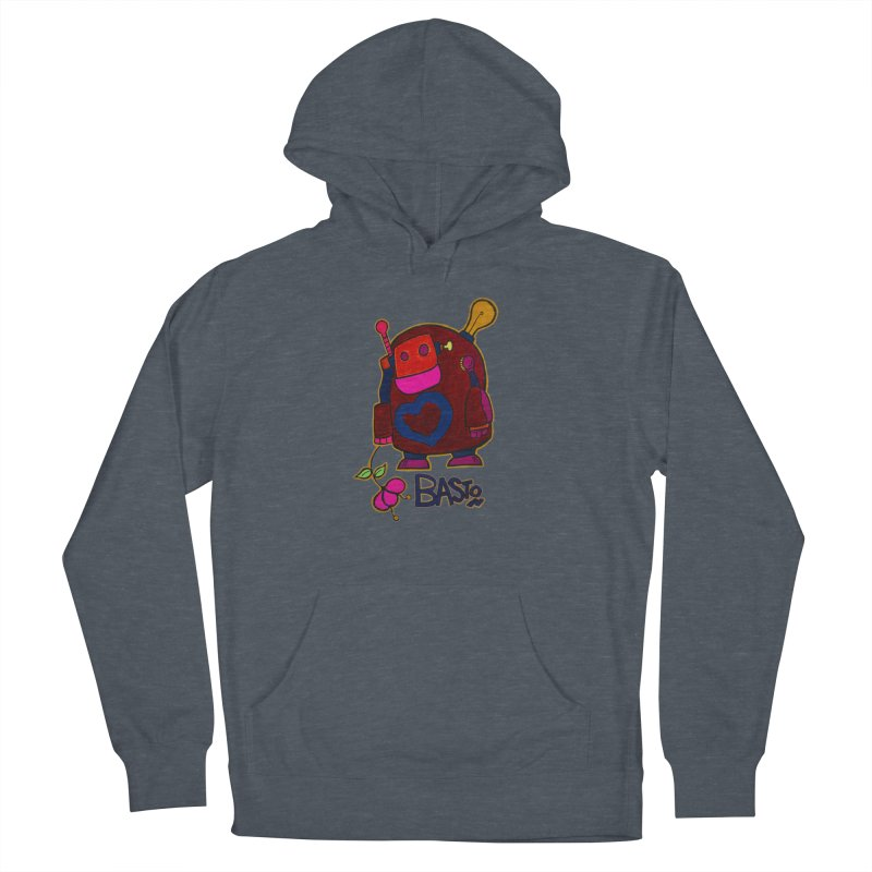 Robot Love 2 Women's Pullover Hoody by Baston's T-Shirt Emporium!