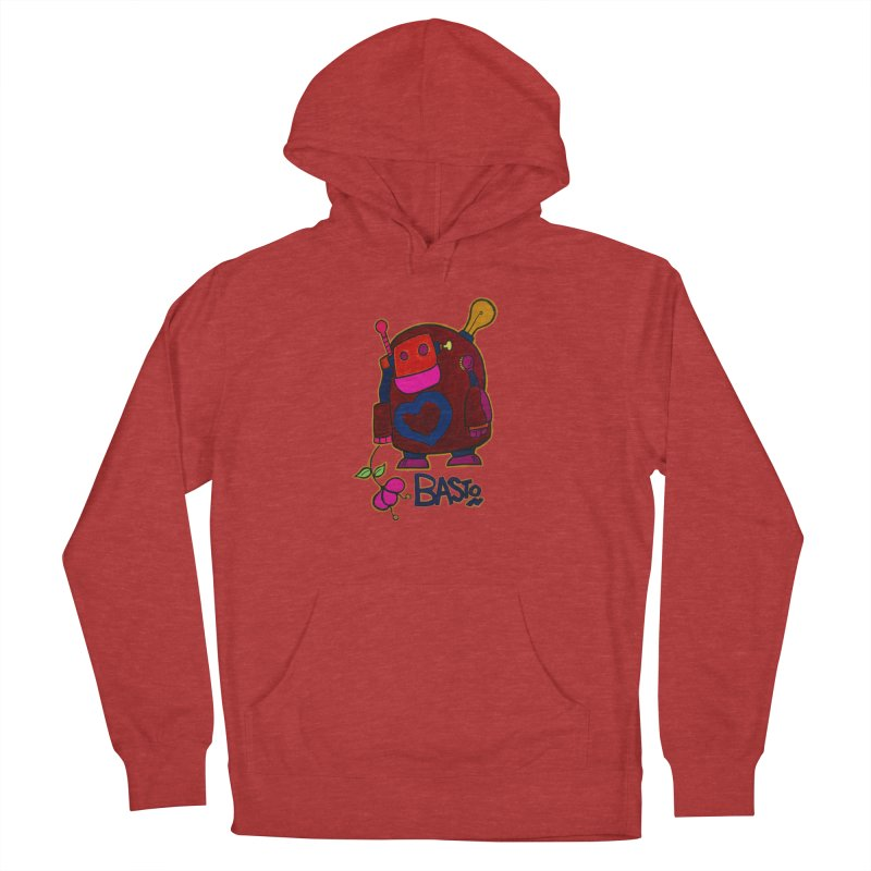 Robot Love 2 Men's French Terry Pullover Hoody by Baston's T-Shirt Emporium!