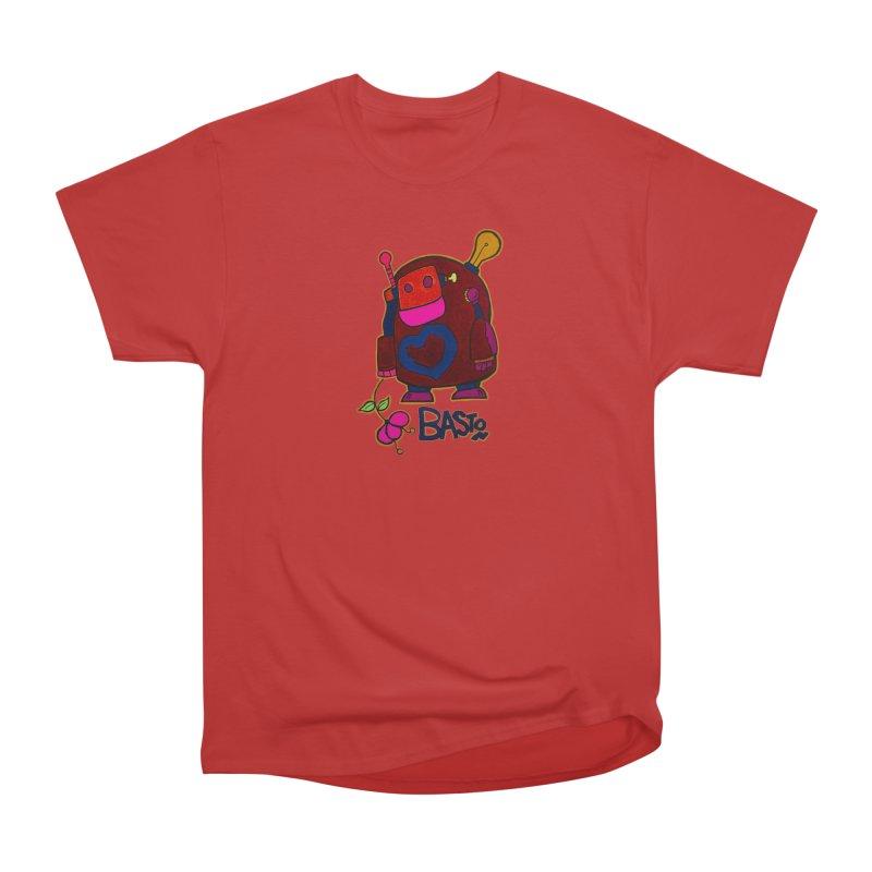Robot Love 2 Women's Heavyweight Unisex T-Shirt by Baston's T-Shirt Emporium!