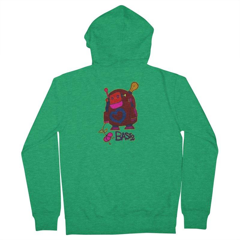 Robot Love 2 Men's Zip-Up Hoody by Baston's T-Shirt Emporium!