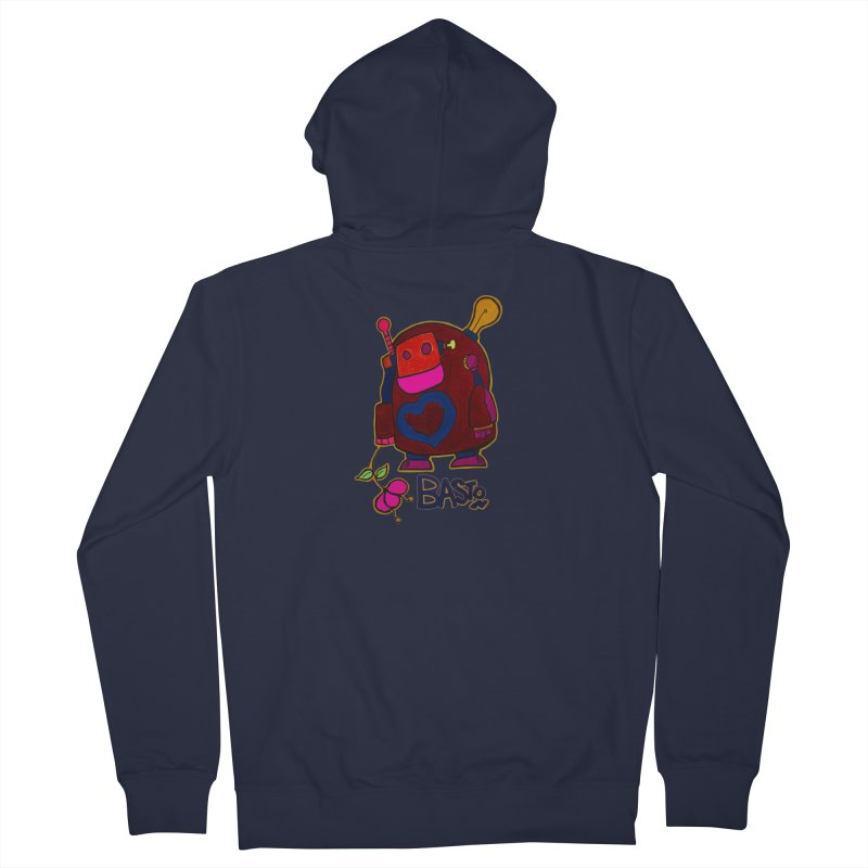 Robot Love 2 Men's French Terry Zip-Up Hoody by Baston's T-Shirt Emporium!