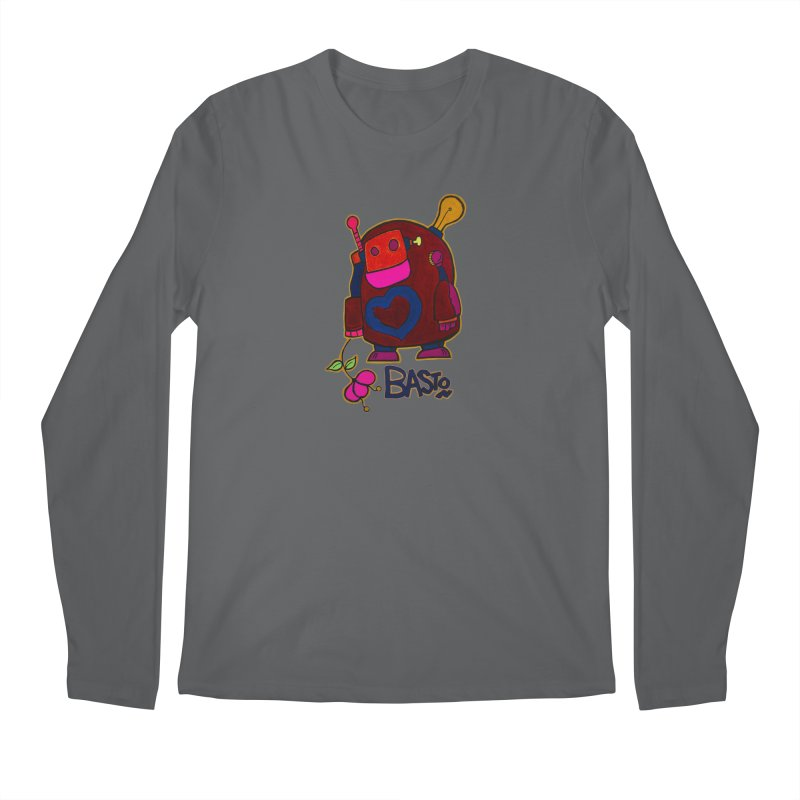 Robot Love 2 Men's Longsleeve T-Shirt by Baston's T-Shirt Emporium!
