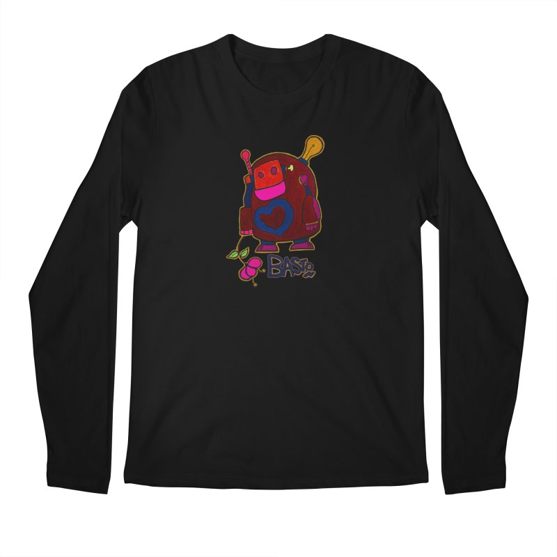 Robot Love 2 Men's Regular Longsleeve T-Shirt by Baston's T-Shirt Emporium!