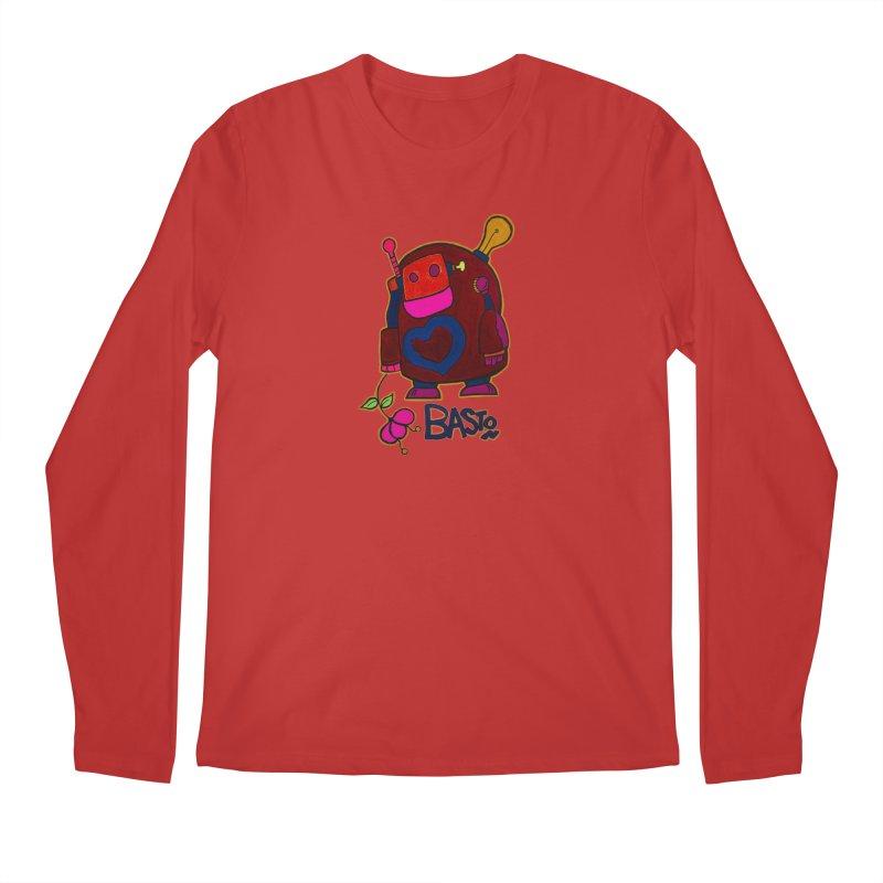 Robot Love 2 Men's Regular Longsleeve T-Shirt by Baston's T-Shirt Emporium!