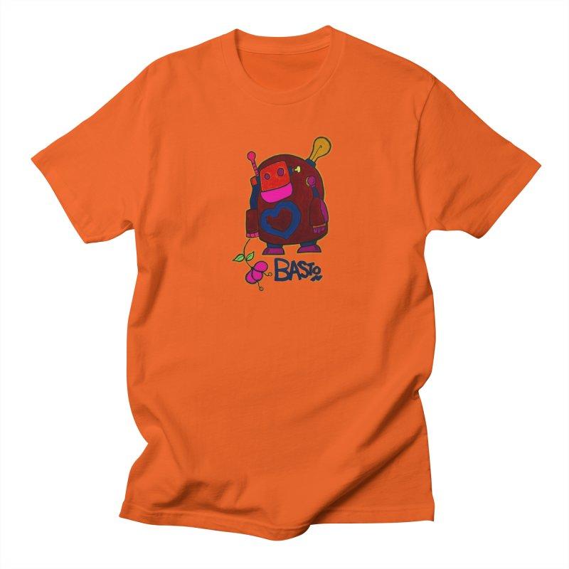 Robot Love 2 Women's Regular Unisex T-Shirt by Baston's T-Shirt Emporium!