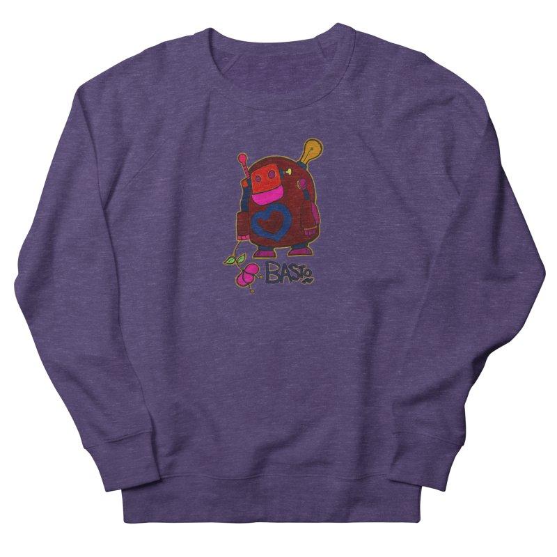 Robot Love 2 Women's French Terry Sweatshirt by Baston's T-Shirt Emporium!