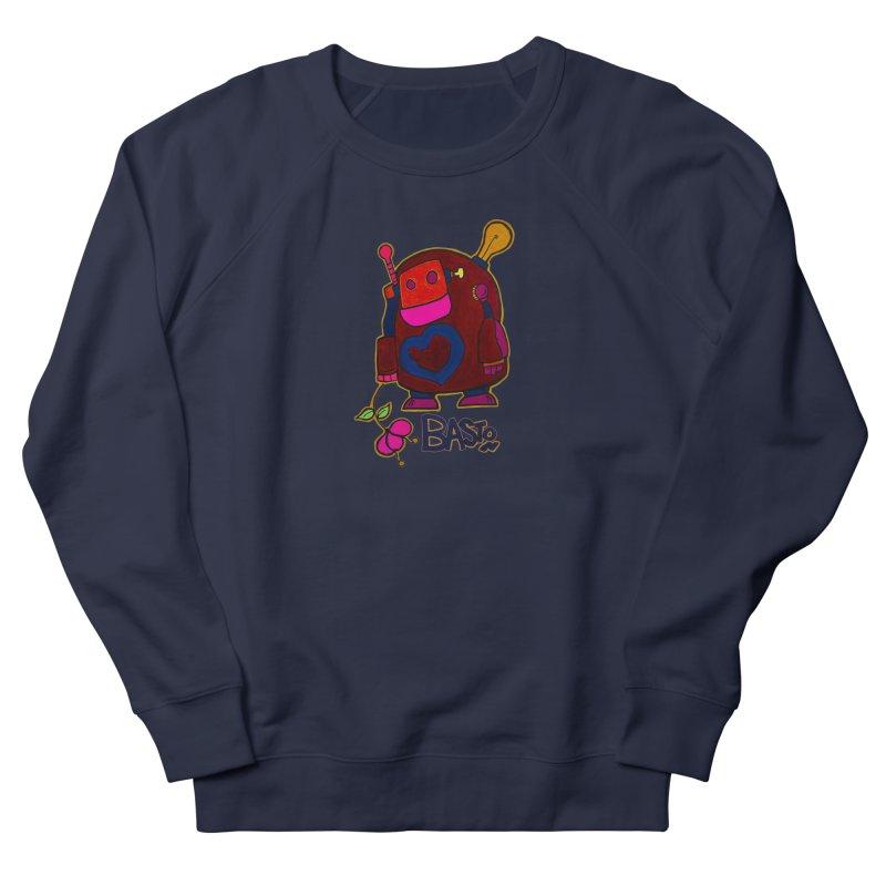 Robot Love 2 Men's French Terry Sweatshirt by Baston's T-Shirt Emporium!