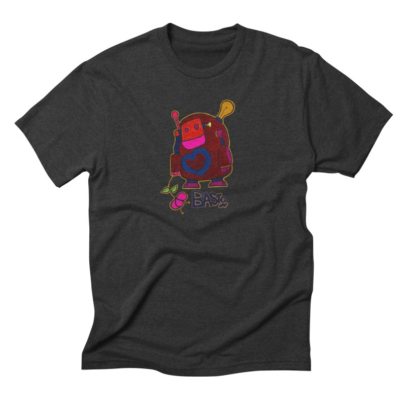 Robot Love 2 Men's Triblend T-Shirt by Baston's T-Shirt Emporium!