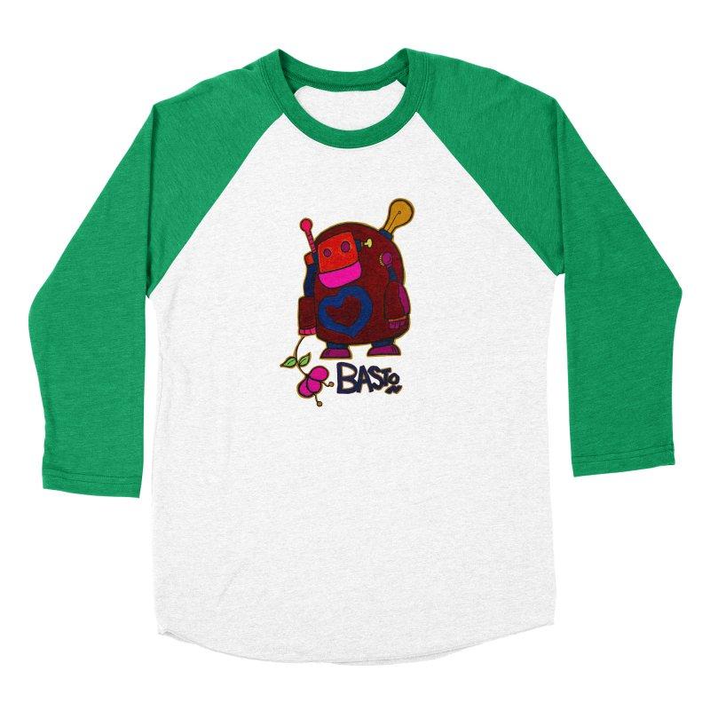 Robot Love 2 Women's Baseball Triblend Longsleeve T-Shirt by Baston's T-Shirt Emporium!