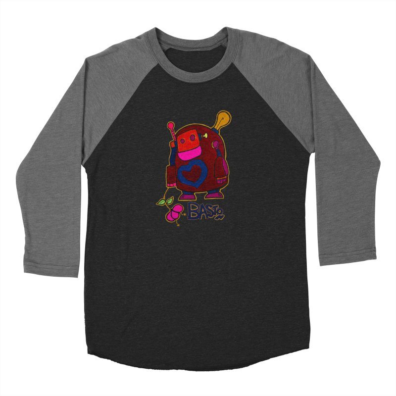 Robot Love 2 Women's Baseball Triblend Longsleeve T-Shirt by Baston's T-Shirt Emporium!