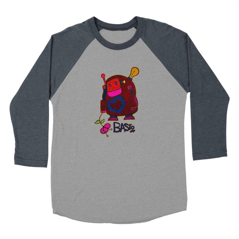 Robot Love 2 Women's Baseball Triblend T-Shirt by Baston's T-Shirt Emporium!