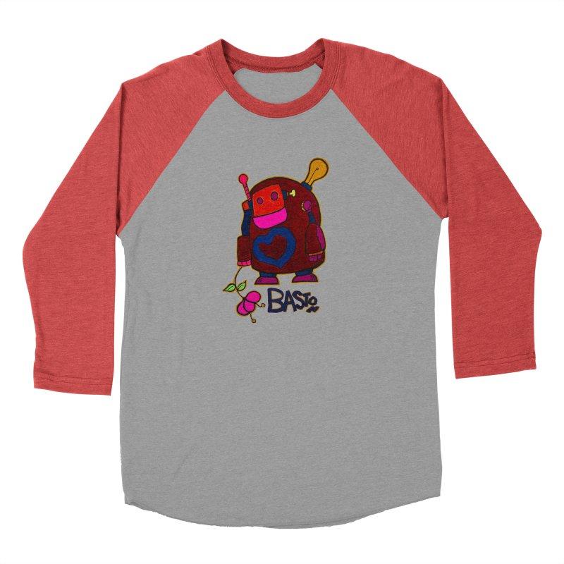 Robot Love 2 Men's Baseball Triblend Longsleeve T-Shirt by Baston's T-Shirt Emporium!