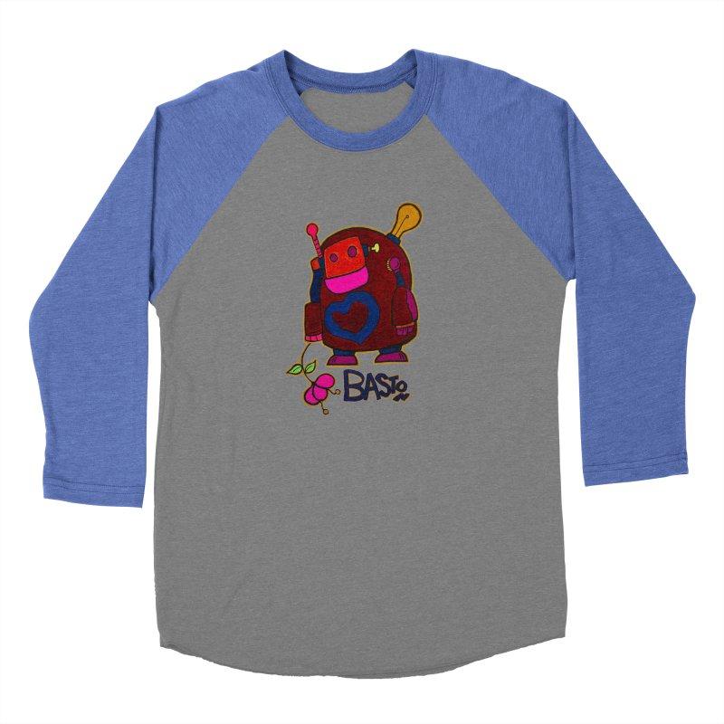 Robot Love 2 Men's Baseball Triblend T-Shirt by Baston's T-Shirt Emporium!