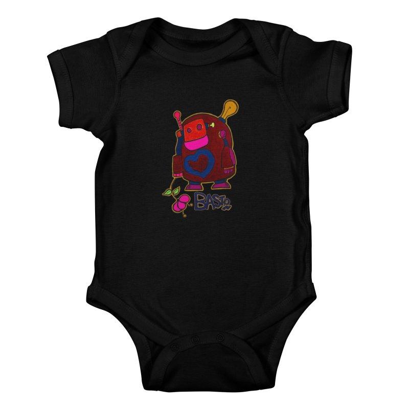Robot Love 2 Kids Baby Bodysuit by Baston's T-Shirt Emporium!