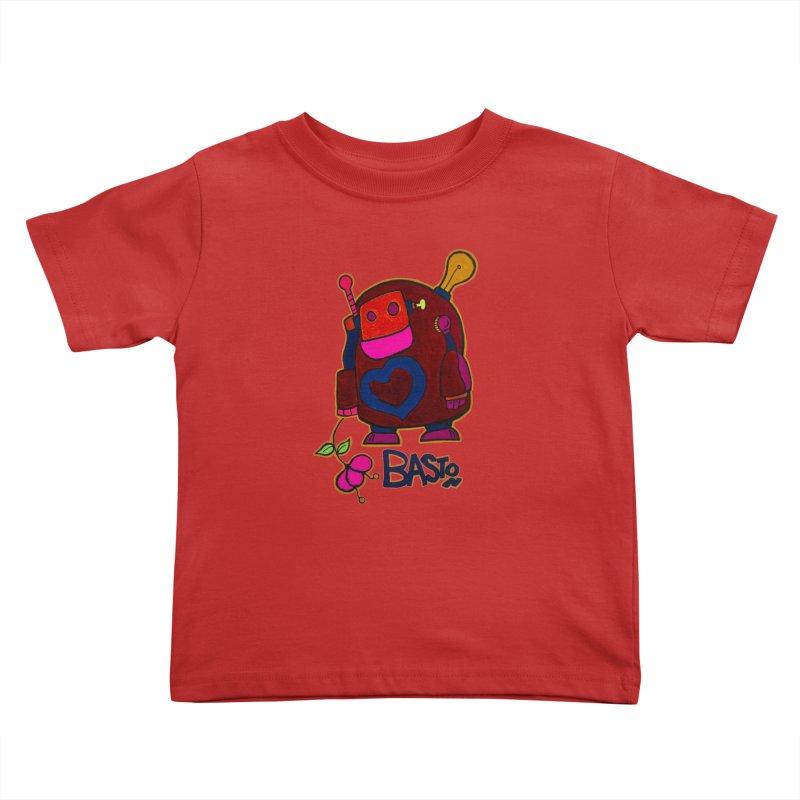 Robot Love 2 Kids Toddler T-Shirt by Baston's T-Shirt Emporium!