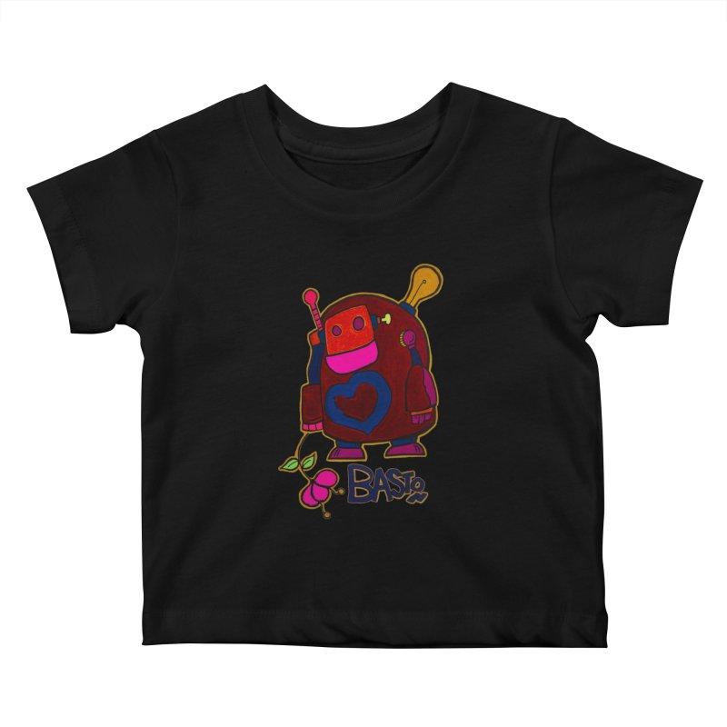 Robot Love 2 Kids Baby T-Shirt by Baston's T-Shirt Emporium!