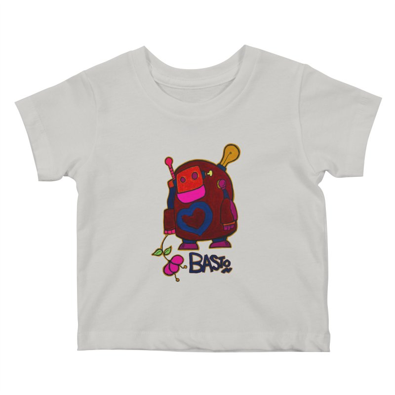 Robot Love 2 Kids Baby T-Shirt by Baston's T-Shirt Emporium!