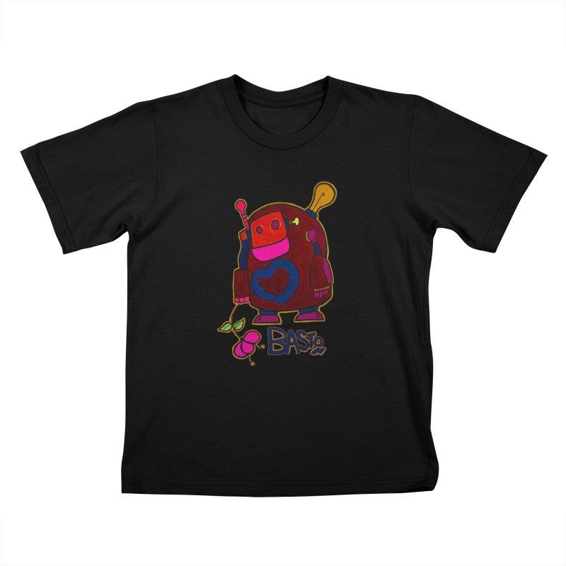 Robot Love 2 Kids T-Shirt by Baston's T-Shirt Emporium!