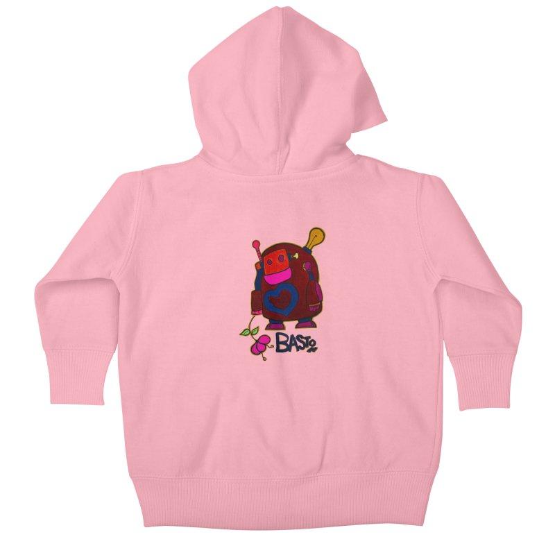 Robot Love 2 Kids Baby Zip-Up Hoody by Baston's T-Shirt Emporium!