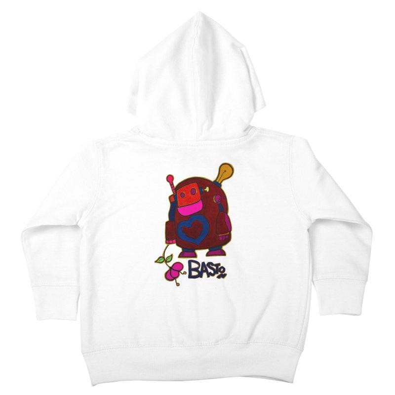 Robot Love 2 Kids Toddler Zip-Up Hoody by Baston's T-Shirt Emporium!