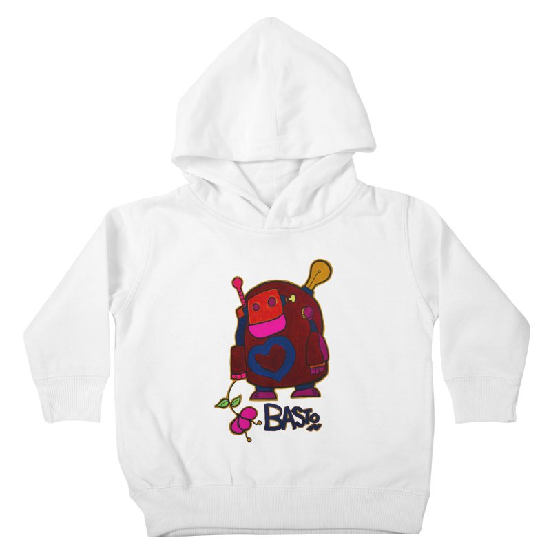 Robot Love 2 Kids Toddler Pullover Hoody by Baston's T-Shirt Emporium!