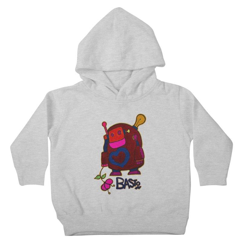 Robot Love 2 Kids Toddler Pullover Hoody by Baston's T-Shirt Emporium!