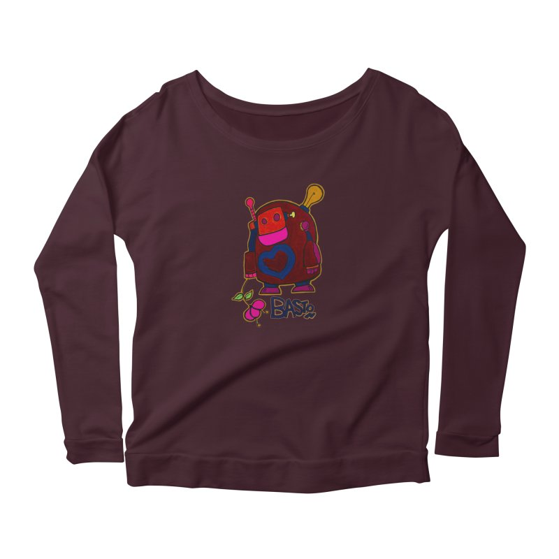 Robot Love 2 Women's Longsleeve T-Shirt by Baston's T-Shirt Emporium!