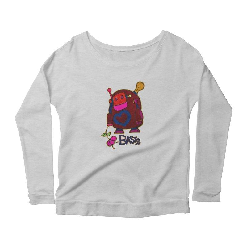 Robot Love 2 Women's Scoop Neck Longsleeve T-Shirt by Baston's T-Shirt Emporium!