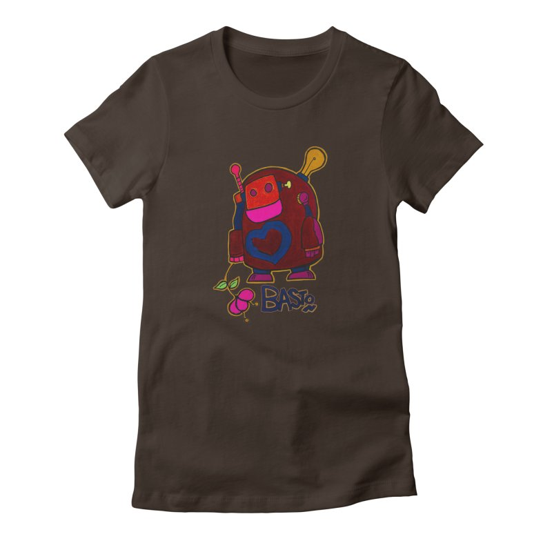 Robot Love 2 Women's Fitted T-Shirt by Baston's T-Shirt Emporium!