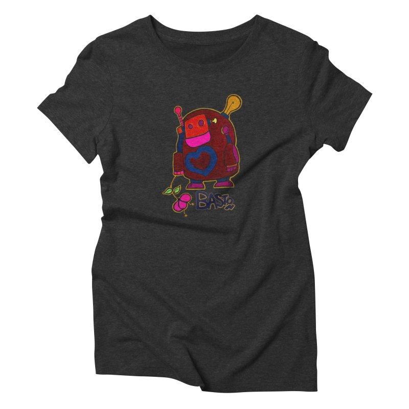 Robot Love 2 Women's Triblend T-Shirt by Baston's T-Shirt Emporium!