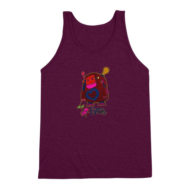 Robot Love 2 Men's Triblend Tank by Baston's T-Shirt Emporium!
