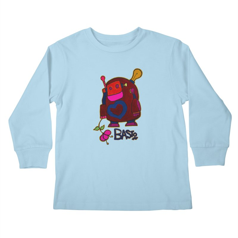 Robot Love 2 Kids Longsleeve T-Shirt by Baston's T-Shirt Emporium!
