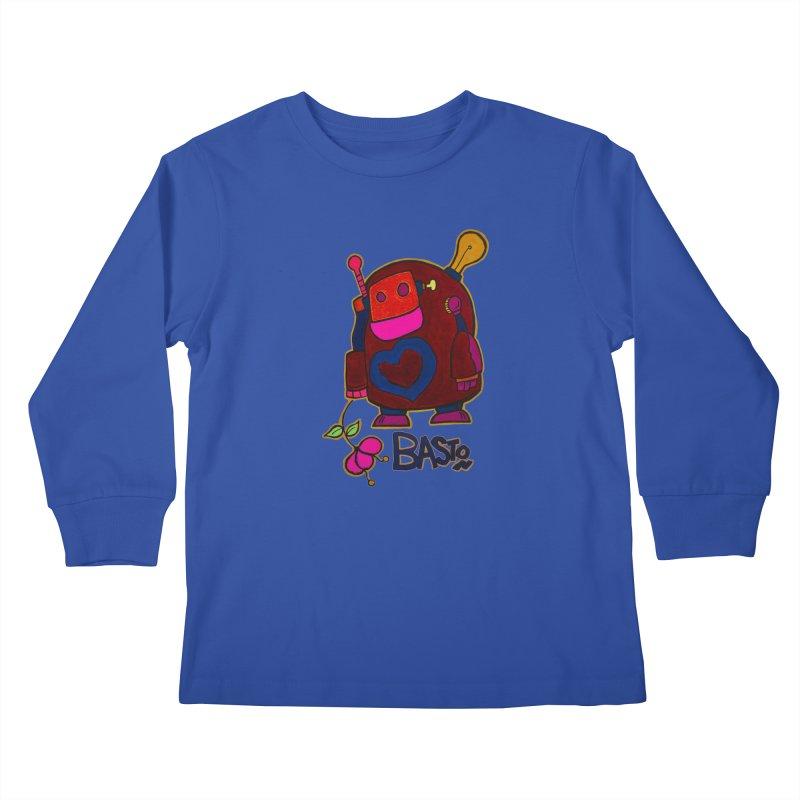 Robot Love 2 Kids Longsleeve T-Shirt by Baston's T-Shirt Emporium!