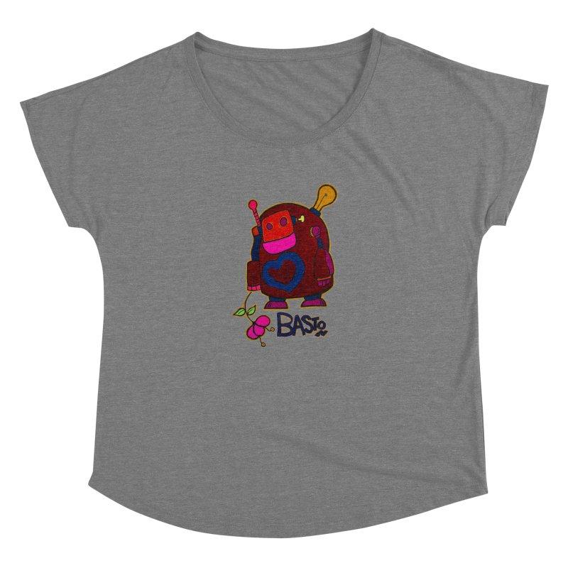 Robot Love 2 Women's Scoop Neck by Baston's T-Shirt Emporium!